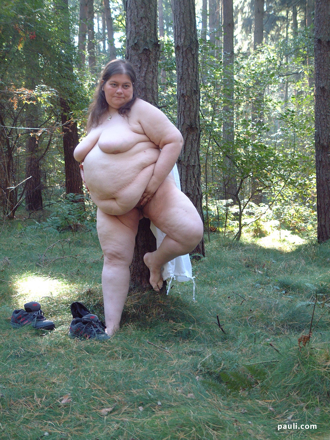 Fat Naked Milf Outdoors-9153