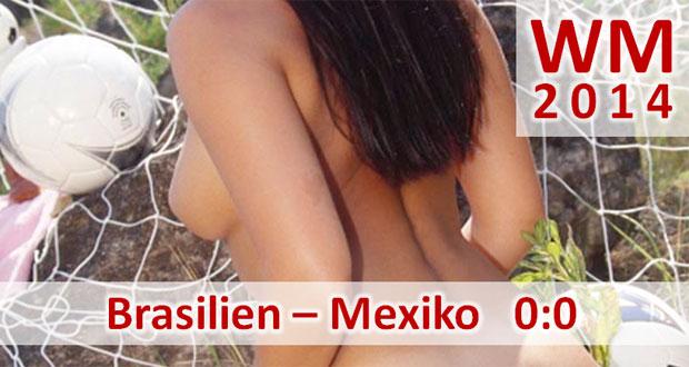 Fußball-WM 2014: Brasilien – Mexiko 0:0 Mexikaner ärgern den Gastgeber