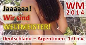 WM 2014: Deutschland - Argentinien