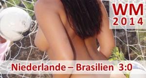 Fußball-WM 2014: Niederlande – Brasilien 3:0 (2:0) Zum Abschluss erneute Schlappe für Brasilien